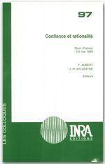 Confiance et rationalite - Couverture - Format classique