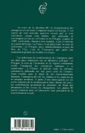 Modernisation Des Entreprises En France Et En Pologne - 4ème de couverture - Format classique