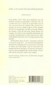 Frida Kahlo, Autoportrait D'Une Femme Babel 170 - 4ème de couverture - Format classique