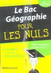 Le Bac Geographie Pour Les Nuls - Intérieur - Format classique
