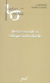 Justice sociale et éthique individuelle - Intérieur - Format classique