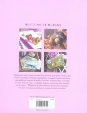 Boutons et rubans - 4ème de couverture - Format classique
