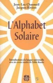 Alphabet solaire (l') - Couverture - Format classique