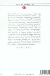 La peinture vénitienne - 4ème de couverture - Format classique