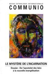 REVUE COMMUNIO N.166 ; le mystère de l'incarnation - Couverture - Format classique