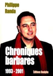 Chroniques barbares - Couverture - Format classique