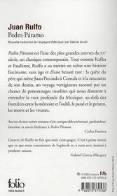 Pedro Páramo - 4ème de couverture - Format classique