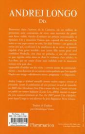 Dix - 4ème de couverture - Format classique