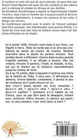 Vincent ou le carnet dans les blés - 4ème de couverture - Format classique