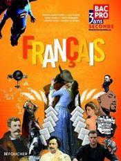 Français ; 2nde professionnelle ; livre de l'élève - Couverture - Format classique