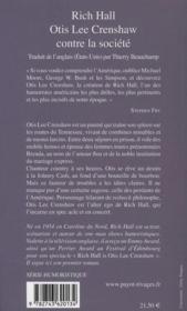 Otis Lee Crenshaw contre la société - 4ème de couverture - Format classique