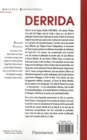 Derrida - 4ème de couverture - Format classique