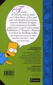 Bart Simpson ; mon guide de la vie - 4ème de couverture - Format classique