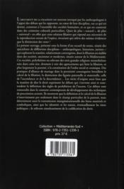 L'argument de la filiation ; aux fondements des sociétés européennes et méditerranéennes - 4ème de couverture - Format classique