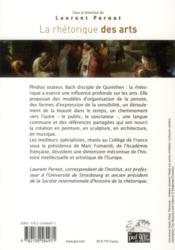La rhétorique des arts - 4ème de couverture - Format classique
