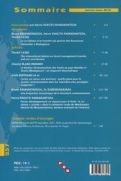 Les Cahiers D'Outre-Mer N?257 - 4ème de couverture - Format classique