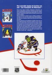 Les hockeyeurs t.1 ; la ligue des joueurs extraordinaires - 4ème de couverture - Format classique