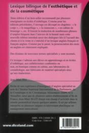 Lexique bilingue de l'esthetique et de la cosmetique 3eme edit, epuise, voir 4e - 4ème de couverture - Format classique