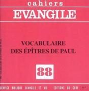 Vocabulaire Des Epitres De Paul (Le) (Coll.), No 8 8 - Couverture - Format classique