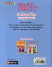 Mademoiselle Zazie ; ras-le-bol d'être une princesse ! - 4ème de couverture - Format classique