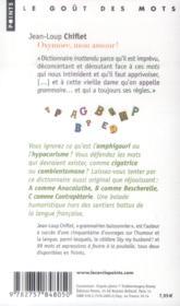Oxymore, mon amour ! dictionnaire inattendu de la langue française - 4ème de couverture - Format classique