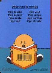 Pipo Range - 4ème de couverture - Format classique