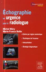 Échographie en urgence pour radiologue - Couverture - Format classique