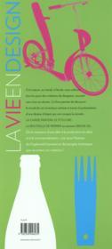 La vie en design - 4ème de couverture - Format classique