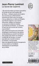 Le secret de Copernic - 4ème de couverture - Format classique