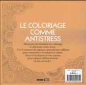 101 mandalas à colorier - 4ème de couverture - Format classique