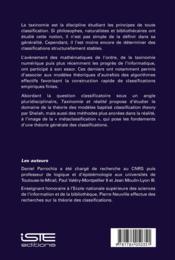 Taxinomie et réalité ; vers une métaclassification - 4ème de couverture - Format classique