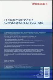 La protection sociale complémentaire en questions (2e édition) - 4ème de couverture - Format classique