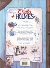 Les enquêtes d'Enola Holmes T.2 ; l'affaire lady Alistair - 4ème de couverture - Format classique