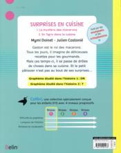 Surprises en cuisine - 4ème de couverture - Format classique