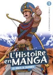 L'histoire en manga t.1 ; les débuts de l'humanité - Couverture - Format classique