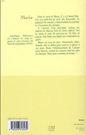 Maria - 4ème de couverture - Format classique