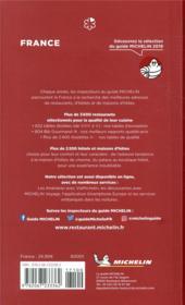 France ; le guide Michelin (édition 2019) - 4ème de couverture - Format classique