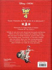 Toy Story 4 ; l'histoire du film - 4ème de couverture - Format classique