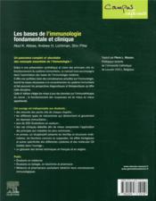 Les bases de l'immunologie fondamentale et clinique (6e édition) - 4ème de couverture - Format classique