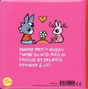 Trotro et zaza et la mort du petit oiseau - 4ème de couverture - Format classique
