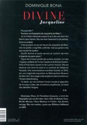 Divine Jacqueline - 4ème de couverture - Format classique