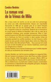 Le roman vrai de la Vénus de Milo - 4ème de couverture - Format classique