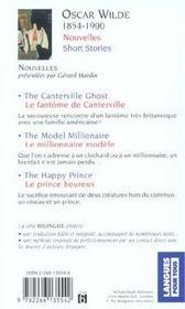 Nouvelles ; short stories - 4ème de couverture - Format classique