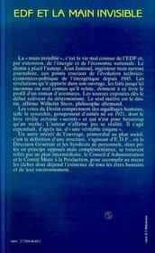 Edf Et La Main Invisible - 4ème de couverture - Format classique