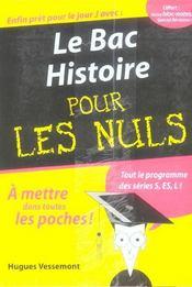 Le Bac Histoire Pour Les Nuls - Intérieur - Format classique