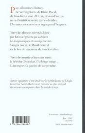L Auvergne Des Monstres, Des Sorciers Et Des Dieux - 4ème de couverture - Format classique