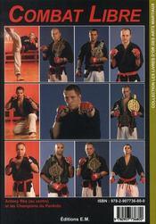 Combat libre ; pankido t.2 - 4ème de couverture - Format classique