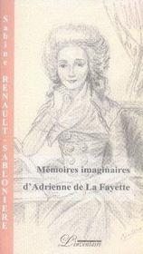 Mémoires imaginaires d'adrienne de la fayette - Intérieur - Format classique