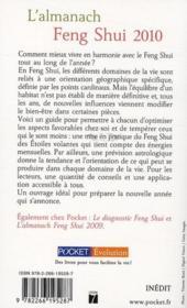 L'almanach feng shui 2010 - 4ème de couverture - Format classique