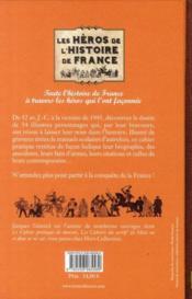 Les héros de l'histoire de France ; de Vercingétorix à de Gaulle - 4ème de couverture - Format classique